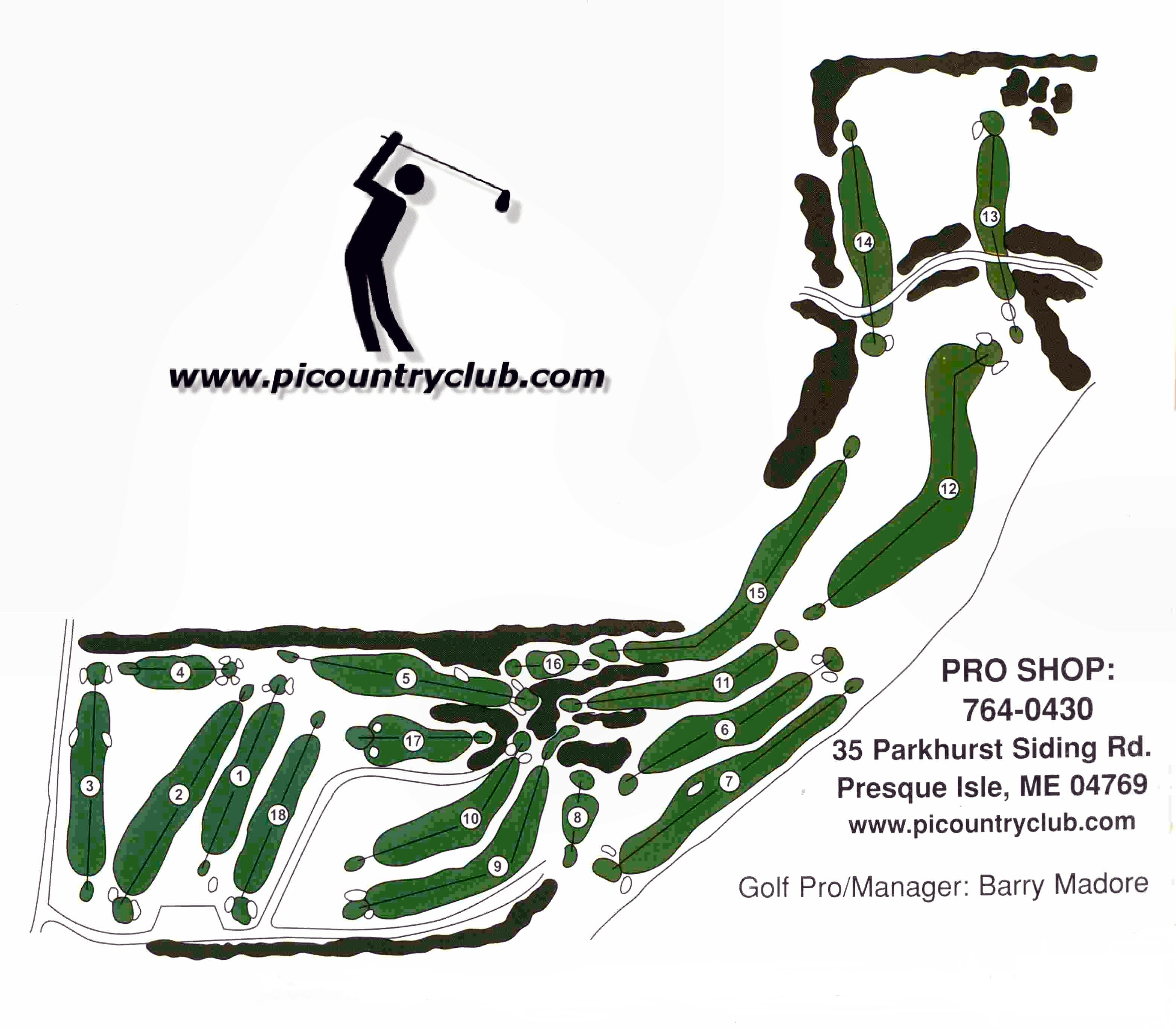 map of PICC golf course
